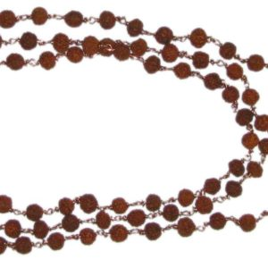 A0675 - Rudraksha Mala in Copper