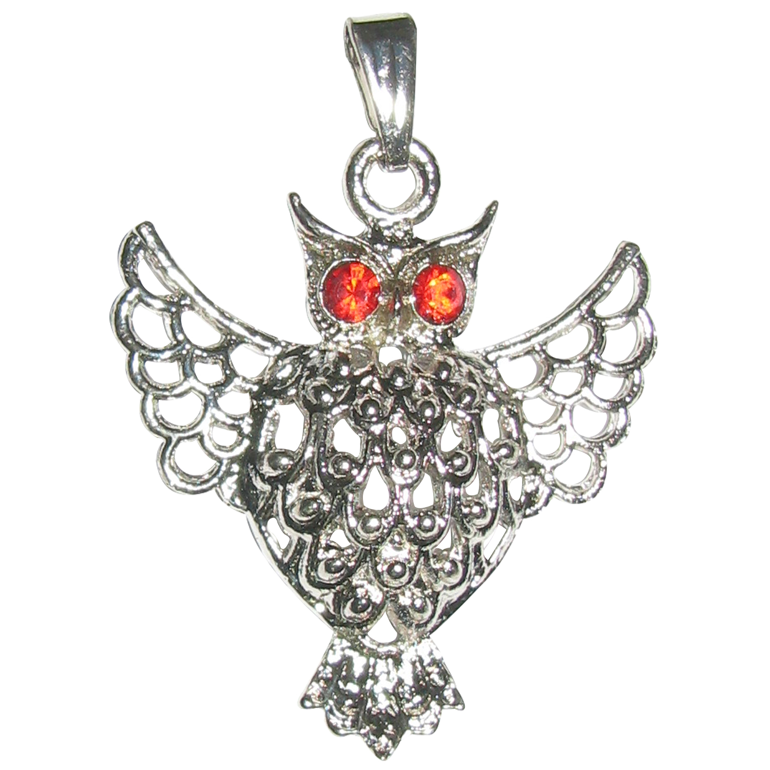 with eyes owl antique blue products color copper pendant necklace vintage