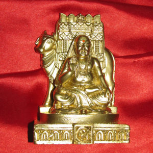 a4946-raghavendra-swamy-with-cow-idol-gold-finish